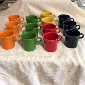Fiestaware mug set of 13